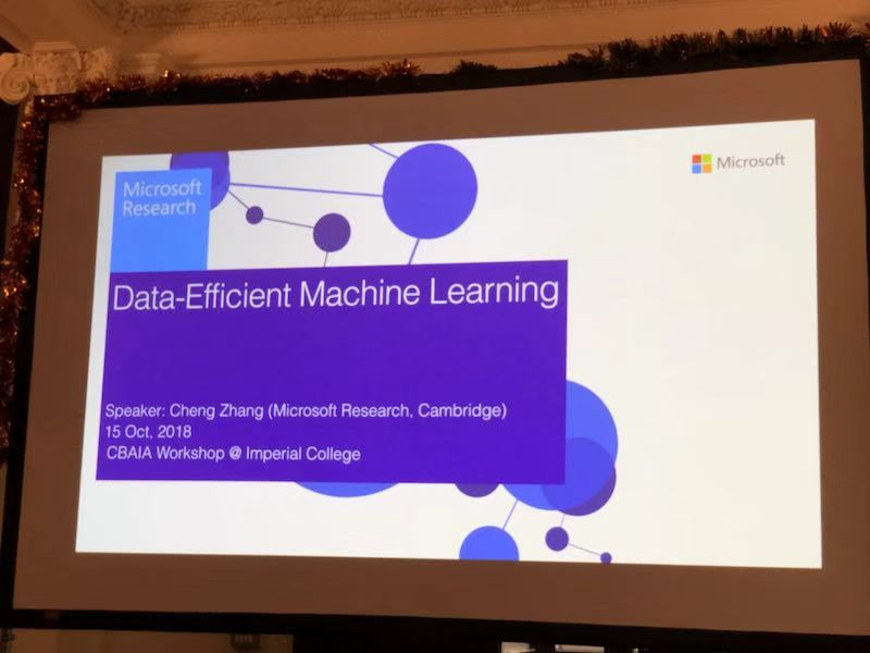 【AI Workshop】Data-Efficient Machine Learning @ Imperial College London